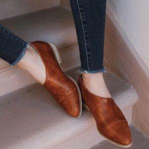 Shoes - New COGNAC Side Cutout Flats